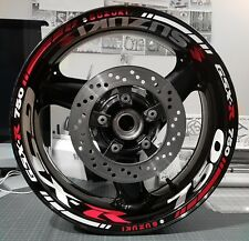 GSXR GSX-R 600 750 1000 WHEEL RIM STICKERS FRONT & REAR RIM TAPE K2-K9 suzuki gs