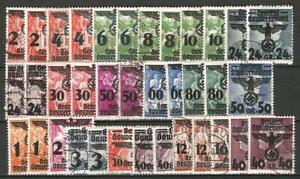 Germany Occ Poland GG 1940 Used - Individual Values from Eagle/Swastika Issue