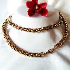 Massive Pierre Lang Kette Halskette Collierkette Collier vergoldet  / ds 803