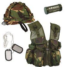 Bambini Set Regalo dell'esercito, forze britanniche Commando Militare Mimetica Camo (Set 6)