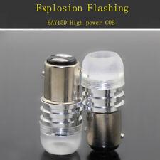 6XAuto Strobe LED Flash 1157 BAY15D P21/5W COB Brake Stop Tail lamp bulb White
