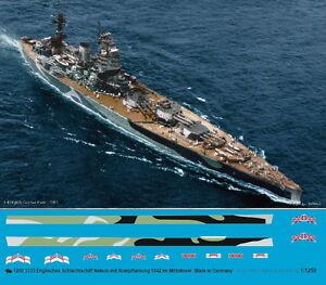 Peddinghaus 1/1250  3333 Englisches Schlachtschiff Nelson mit Rumpftarnung 1942