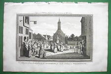 HOLLAND Lutherans Custom at Whitsuntide - 230 yrs Old Original Engraving