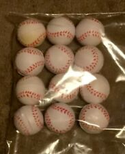 12 Small White Soft Training Balls 1/2 inch