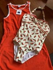 Janie And Jack Watermelon Swimsuit Cover Up 7 New