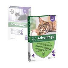 ADVANTAGE 0,8 ml x 4 pipettes Ticks and flea treatment Cat +4 kg antiparasitaire