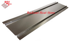 "(25) 4ft Aluminum Double Omega Radiant Floor Heat Transfer Plates for 1/2"" PEX"