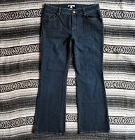 Women's Cabi Sz 10 Low Rise Curvy Boot Cut Stretch Denim Jeans Dark Indigo Wash