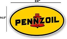 """(PENN-1) 24"""" EARLY PENNZOIL OIL LUBSTER front DECAL GAS PUMP SIGN GASOLINE"""