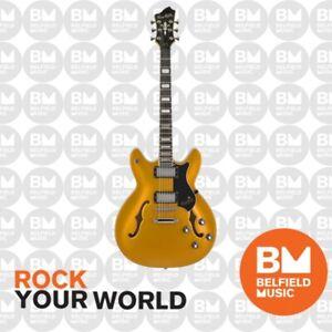 Hagstrom Justin York Viking Electric Guitar Semi-Hollow Gold Top w/ Hardcase