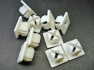 10 pcs nylon license plate nuts grommets clips fits Dodge DeSoto Plymouth