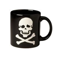 Waechtersbach Decorated Mugs Skull and Crossbones Mug in Black