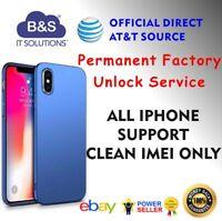 PREMIUM FACTORY UNLOCK CODE SERVICE AT&T IPHONE X 8 7 6+ 6S plus 5S 5C 4S SE ATT