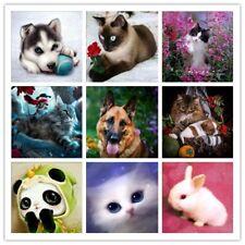Diamond 5D Diy Diamond Painting Dog Cat Animal Pattern Cross Stitch Mosaic Tools
