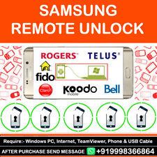 Remote Unlock Code Samsung Galaxy S2 S3 S4 S6 Rogers Telus Fido Koodo Bell Wind