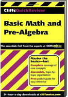 CliffsQuickReview Basic Math and Pre-Algebra by Jerry Bobrow (Paperback)