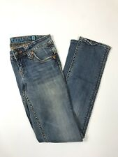Womens SANG REAL by Miss Me Bootcut Jeans Size 27 Med Wash Distressed Jeans