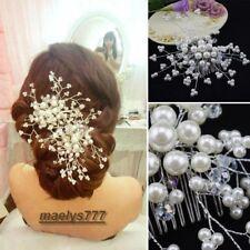 épingle à cheveux peigne fleurs perle accessoire cheveux mariée Mariage soirées.
