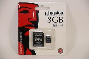 Kingston 8GB MicroSDHC Class 4 Memory Card with Adapter Micro SDHC SDC4/8GB