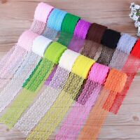 Vintage Beautiful Colourful 10Yard Retro Embroidered Lace Trim Ribbon DIY Crafts