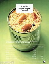 PUBLICITE ADVERTISING 106  1998 la boite conserve  choucroute