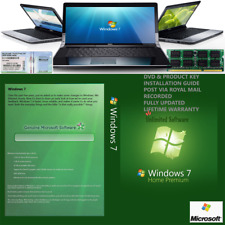 Windows 7 Professional 64bit SP1 Format HDD DVD + licenza utilizzare su qualsiasi computer