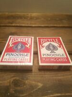 Vintage Bicycle Pinochle Playing Cards Set of 2 Decks *1 New Sealed  1 Preowned