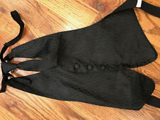 Mel Howard Black Candlelight  tuxedo vest/longtie       Boys L/XL