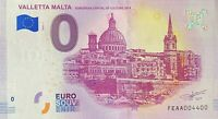 BILLET 0  EURO VALLETTA MALTA MALTE   2018   NUMERO 4400
