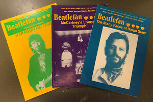 BEATLEFAN Magazine 3 Issues 1991 Beatles McCartney, Lennon, Ringo, George (v13a)