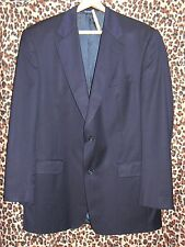 Burberry Men's navy blue striped wool suit coat 42 42L super 100's modern recent