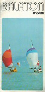 Hungarian lake Balaton, vintage german language tourist advertising brochure 80s