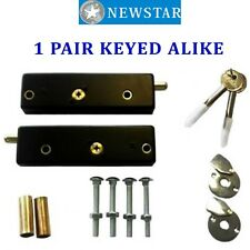 NEWSTAR Garage Door Bolts Locks C/W Hardened Steel Rollers For Extra Security
