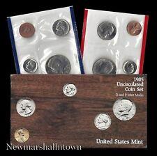 1985 P+D U.S. Mint Set ~ Kennedy Washington Roosevelt Jefferson Lincoln US Coins