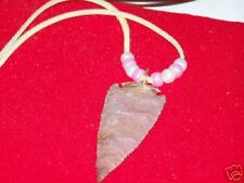 ARROWHEAD NECKLACE :  Real Stone, Hand Crafted  (H)