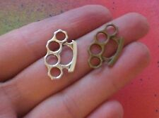 15 Bronze Tone Brass Knuckles Duster Knuckle CHARMS Pendants Fight MMA Punk Emo