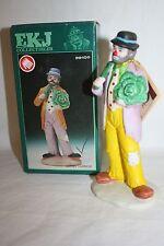 "1986 Emmett Kelly Flambro Figurine ""Eating Cabbage"" Clown Figurine 9910D Rare"