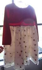 Girls Dressy Dress Holiday or Pageant Velvet Belero Embroidered Roses Sz. 5T