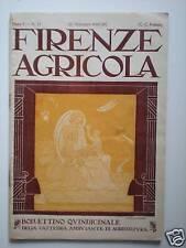(AGRICOLTURA-RIVISTE)FIRENZE AGRICOLA 15 SETTEMBRE 1928