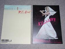 Kill Bill Vol.2 Japan flyer x2! Uma Thurman Tarantino