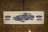 ford capri rs 3100  large pvc banner  garage  work shop man cave classic show