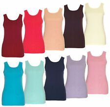 Ärmellose Damen-Shirts aus Baumwolle ohne Muster