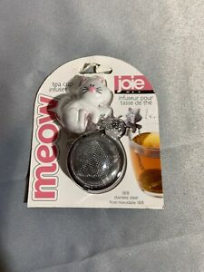 New MIP Joie Meow White Kitty Cat Kitten & Fish Tea Cup Infuser Cat Lover!!!!!