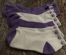 Women's Purple/White Paw Prints Low Cut Socks, 1 Pair Purple Dog Bones