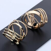 Fashion Women Jewelry Gold Plated 6PCS Knuckle Stack Plain Ring Size 6 7 8 A