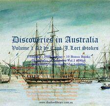 CD - Australia History - Discoveries Vol.1&2 Capt.Stokes - Plus 10 eBooks