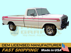 compatible with, 1977 Ford F100 F150 F250 Explorer Custom Truck Decal Stripe Gra