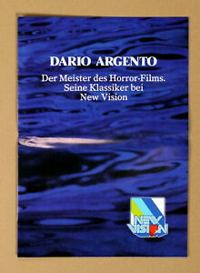DARIO ARGENTO * NEW VISION VIDEO KATALOG A3 Video-Programme XL-Broschüre RAR