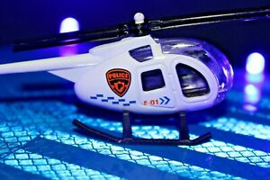 Diecast Metal Helicopters 4 Police Scale 1:64 Kids Toys