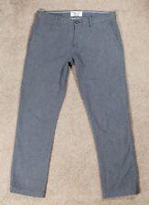 Mens Original Penguin by Munsingwear Cotton Dress Pants 32 X 30 Grey Skinny Slim